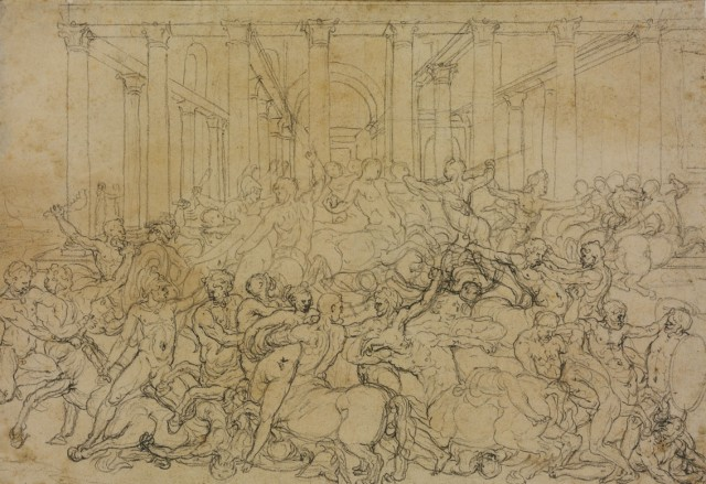 Battle of Centaurs and Lapiths (recto and verso)