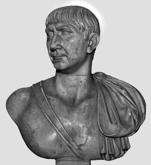 Traianus mellszobra. Róma, Musei Vaticani. Fotó: Hans R. Goette szíves közreműködésével