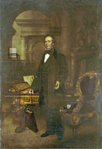John Harris, Joseph Mayer in his Egyptian Museum, ca. 1856, oil on canvas. Birkenhead, Williamson Museum and Art Gallery, inv. no. 4566 © Williamson Museum and Art Gallery