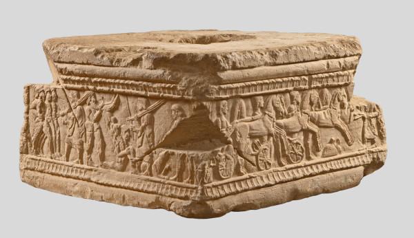Etruszk síremlék-talapzat. Clusium, Kr. e. 480 körül