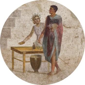 Pompeii freskó részlete: Iaszón megérkezik Kolkhiszba
